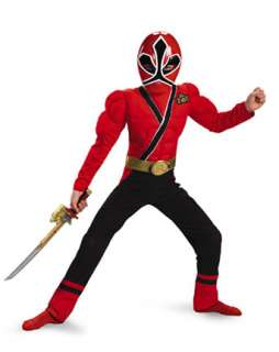 Red Power Ranger Muscle Halloween Costume  Wholesale TV & Movie