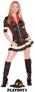 Foxy Firefighter Playboy Costume, Sexy Adult Costumes