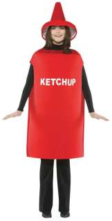 Adult Ketchup Bottle Costume   Funny Halloween Costumes   15GC305