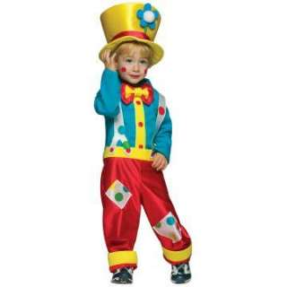 Clown Boy Toddler Costume   Includes Shirt, Pants/Suspenders, Hat