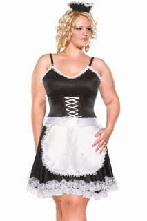 Diva Frisky French Maid Sexy Plus Adult Costume   Includes a Lycra