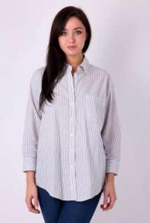 Grey Laurent Oversized Shirt by Elizabeth & James   Grey   Buy Tops