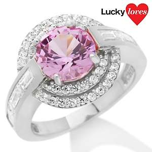 96ct Absolute™ and Round Created Pink Sapphire Ring
