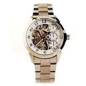 € 41.14   aço inoxidável relógio banda esqueleto automática com