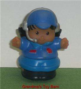 Fisher Price Little People Hispanic Airplane PILOT Girl
