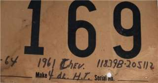 1964 DELAWARE CAR TAG LICENCE PLATE CHEVY TEMPORARY OLD
