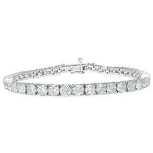 14k White Gold Diamond 4 Prong Tennis Bracelet (10 cttw, H I Color, I1