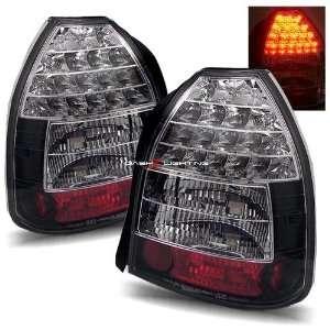 96 00 Honda Civic 3Dr LED Tail Lights   Black Automotive
