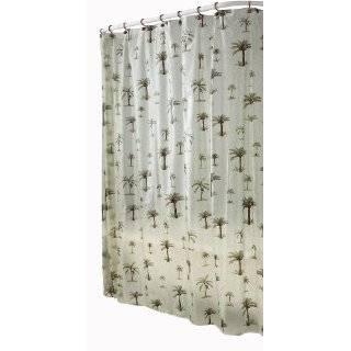 Shower & Window Curtain Set Palm Trees