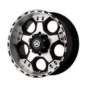 American Racing ATX Justice 17x9 Black Wheel / Rim 5x135 with a  12mm
