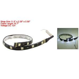 White 5050 SMD 12 LED Strip Light Lamp 11.8 for Car Auto Automotive
