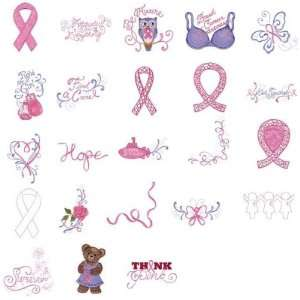 Brother/Babylock Embroidery Card PINK RIBBON AWARENESS