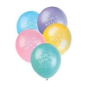 12 Assorted Color Baby Shower Balloons 10ct Toys & Games