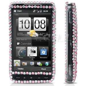 Ecell   BLACK BUTTERFLY 3D CRYSTAL BLING CASE FOR HTC HD2 Electronics