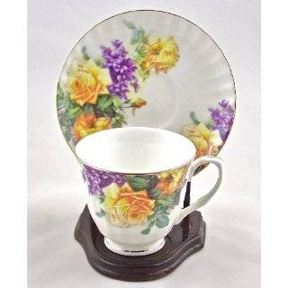Fine Bone China Cup and Saucer Rose Bouquet Chintz