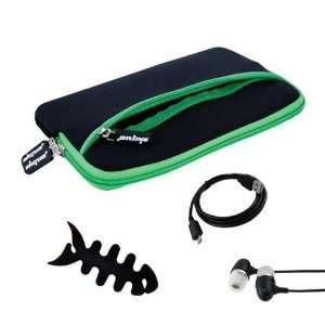 Premium Glove Series Case(Black with Green Trim) + Black