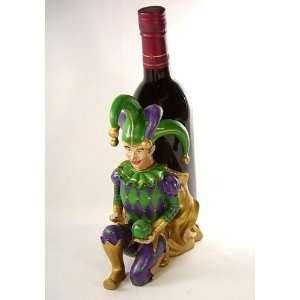 Jester Wine Bottle Holder in Purple, Green & Gold