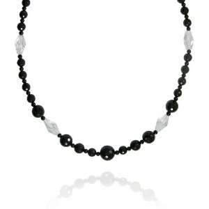 Round Shaped 12mm with Crystal Bead Necklace, 24+2Extender Jewelry
