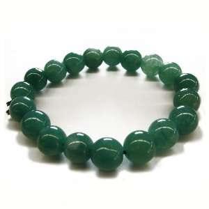 Fashion Jewelry ~ Round Light Green Jade Bracelet