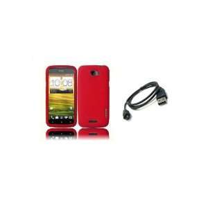 Mobile) Premium Combo Pack   Red Silicone Soft Skin Case Cover