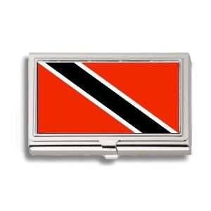 Trinidad Flag Business Card Holder Metal Case Office