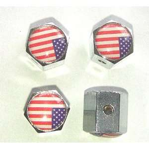 States Usa Flag Anti theft Car Wheel Tire Valve Stem Caps Automotive