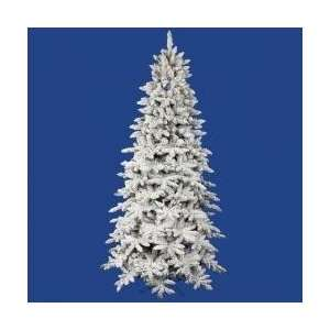 Pre Lit Flocked Olympia Fir Artificial Christmas Tree   Multi