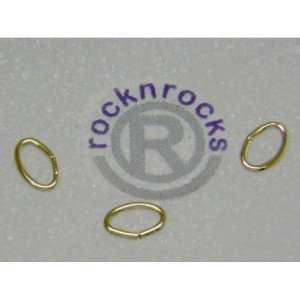 FINE 14 KARAT GOLD FILLED 7.6MM OVAL OPEN JUMP RINGS