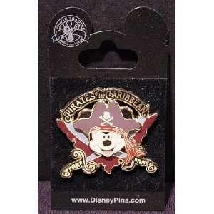 Pirates of the Caribbean Mickey Mouse Logo Disney Pin