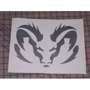 Triabal Dodge Ram Head 8X10 Window Decal Decals Sticker