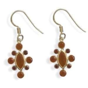 and Carnelian 14 Karat Gold Plated Earrings CleverSilver Jewelry