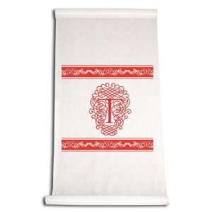 Inch Aisle Runner, Fancy Font Letter T, White with Red: Home & Kitchen