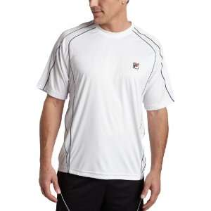 Fila Mens MenS Baseline Crew Neck Shirt Sports & Outdoors