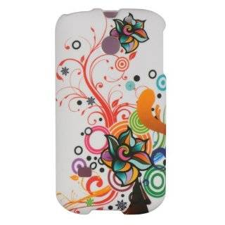 White Flowers Hard Case Cover for Huawei Ascend 2 M865