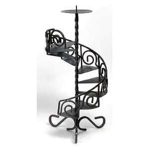 Candleholder   Black Wrought Iron 15 in. High: Home Improvement