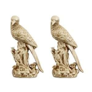 Birds Pattern Fresh Elegant Bird Hand Painted Statue Sculpture