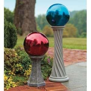 Column Gazing Ball Stand, 12 Inch High Patio, Lawn