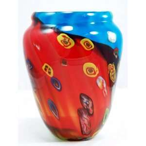 Italian Design 3 Color Vase Murrine Glass Vase: Patio, Lawn & Garden
