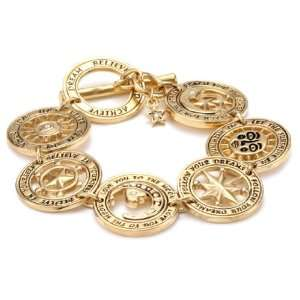 Destiny 24k Gold Plated Swarovski Crystal Coin Bracelet Jewelry
