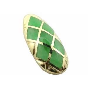 Green Jade Diamond Back Pendant, 14k Gold Jewelry