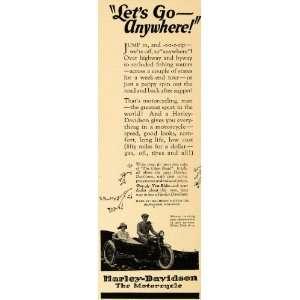 1923 Ad Harley Davidson Motor Motorcycle Milwaukee WI