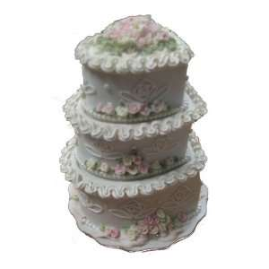 Resin Handpainted 3 Tier Heart Trinket Box  Kitchen