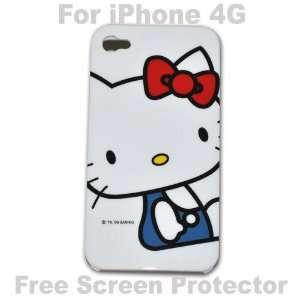 Hello Kitty Case Hard Case Cover for Iphone 4g   P + Free