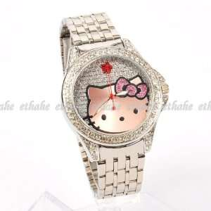 Hello Kitty Girls Large Watch Steel Wristwatch Toys