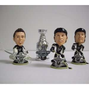 Pittsburgh Penguins NHL Champions Mini Bobblehead 4 pack
