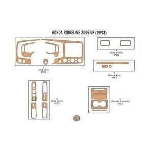 Honda Ridgeline Dash Trim Kit 06 up   19 pieces   Green Carbon Fiber