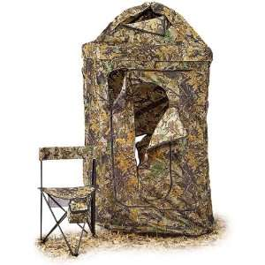 Deluxe Round Blind with Chair Autumn Leaf Camo  Sports