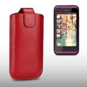 HTC RHYME PU LEATHER CASE, BY CELLAPOD CASES RED