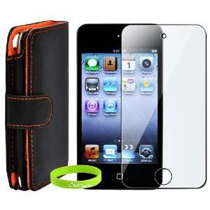 Wallet Leather Case, Cover with Screen Protector for Apple iPod Touch