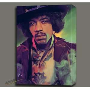 JIMI HENDRIX ORIGINAL DIGITAL OIL PAINTING ON CANVAS MOUNTED W GALLERY